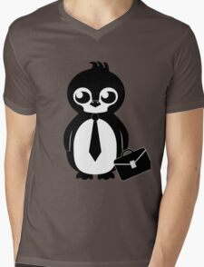 Business Penguin Mens V-Neck T-Shirt