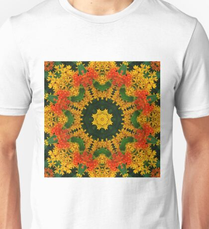 Butterfly weed mandala Unisex T-Shirt