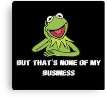Kermit Meme Canvas Print