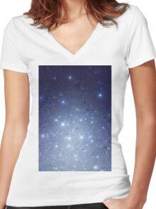 Stars freezing to standstill Women's Fitted V-Neck T-Shirt