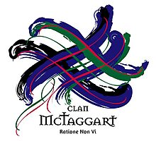 Clan MacTaggart -Prefer your gift on Black/White tell us at info@tangledtartan.com   Photographic Print