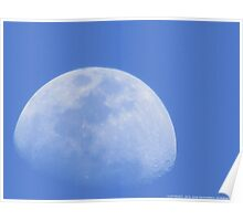 Moon In The Blue Poster