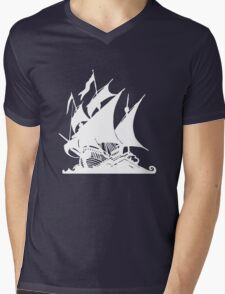 Pirates Ship Mens V-Neck T-Shirt