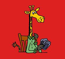 Cool Funky Yellow Giraffe Playing Card game Unisex T-Shirt