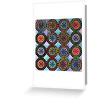 Coloured Chequers Greeting Card
