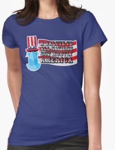 July 4th Womens Fitted T-Shirt