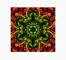 Peppy red and green pepper mandala Unisex T-Shirt