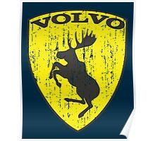 Volvo Prancing Moose - Grunge Poster
