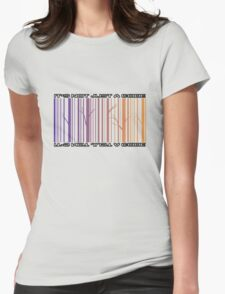Tree Bar Code Womens Fitted T-Shirt