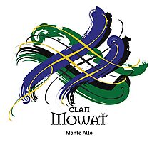Clan Mowat - Prefer your gift on Black/White tell us at info@tangledtartan.com  Photographic Print