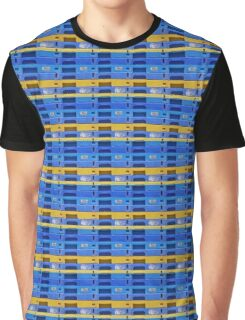 Yellow and Blue Graphic T-Shirt