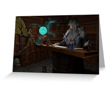 Wizard's Study Lesson Begins Greeting Card