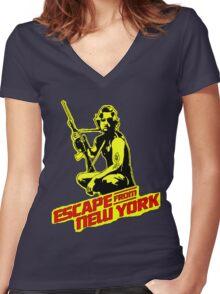 Snake Plissken (Escape from New York) Colour Women's Fitted V-Neck T-Shirt