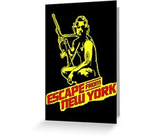 Snake Plissken (Escape from New York) Colour Greeting Card