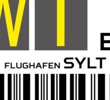 Destination Westerland Airport Sticker