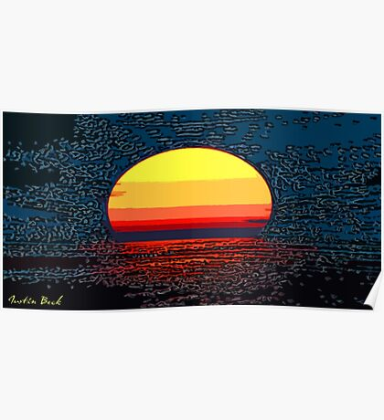Picture 2015064 Justin Beck setting sun Poster