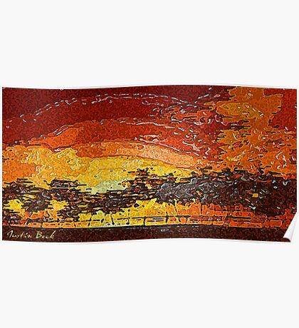 Picture 2015062 Justin Beck Warm Sunset Poster