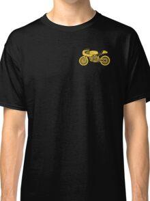 Retro Cafe Racer Bike - Yellow Classic T-Shirt