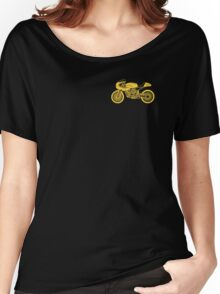 Retro Cafe Racer Bike - Yellow Women's Relaxed Fit T-Shirt