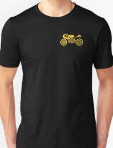 Retro Cafe Racer Bike - Yellow T-Shirt