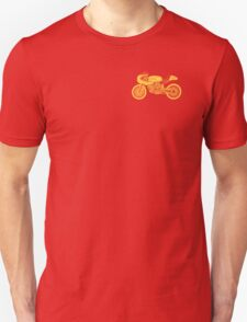 Retro Cafe Racer Bike - Yellow Unisex T-Shirt