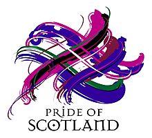 Pride of Scotland - Prefer your gift on Black/White tell us at info@tangledtartan.com  Photographic Print