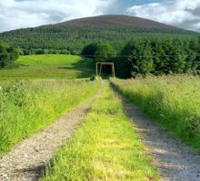 Path into the hills Sticker