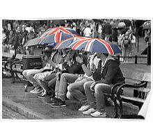 Great Britain In The Rain Poster