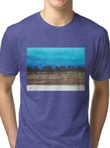 Long Dusk original painting Tri-blend T-Shirt