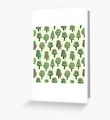 Decorated Trees Greeting Card