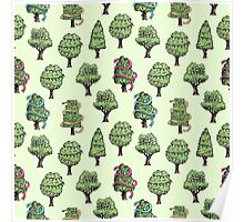 Decorated Trees Poster