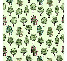 Decorated Trees Photographic Print