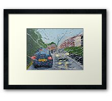 Rainy Day In Bolton Framed Print
