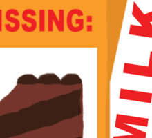 Missing Cake on Milk Carton Sticker
