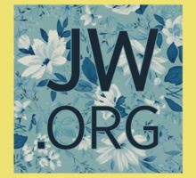 JW.org (white and blue flowers) One Piece - Short Sleeve