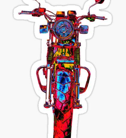 Motorrad frontal rot Sticker