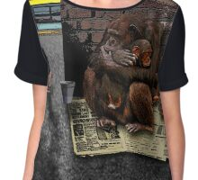 Homeless-Chimps-Justin-Beck-Picture-2015083 Chiffon Top