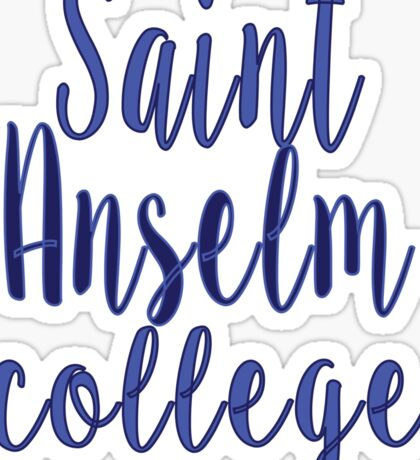Saint Anselm College Sticker
