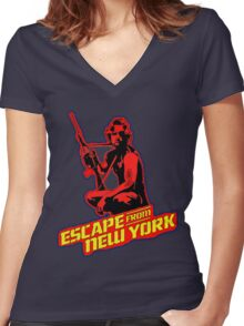 Snake Plissken (Escape from New York) Colour 2 Women's Fitted V-Neck T-Shirt