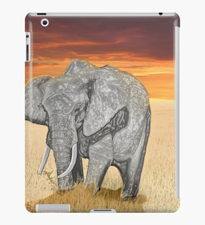 Savana Elephant Justin Beck Picture 2015085 iPad Case/Skin
