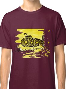 Yellow submarine watercolor graphic marker drawing Classic T-Shirt