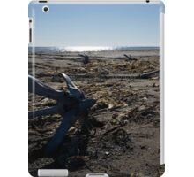 Backlit anchors on sandy beach with seaweed iPad Case/Skin