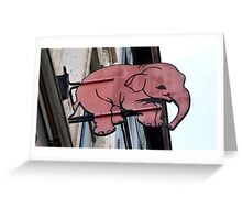 Seeing Pink Elephants? Greeting Card