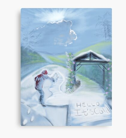 Snow to Spring Canvas Print