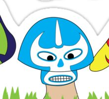 Luchador mushrooms! Sticker