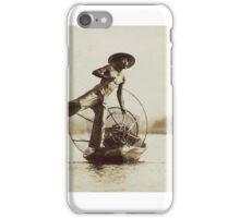 Leg Oar Fisherman - Inle Lake, Myanmar iPhone Case/Skin