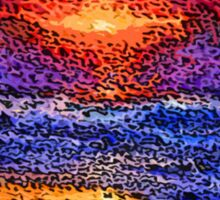 Picture 2015061 Justin Beck wave sunset Sticker