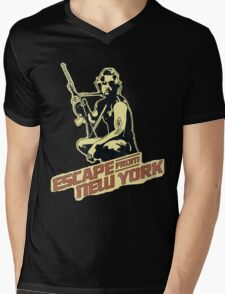 Snake Plissken (Escape from New York) Vintage Mens V-Neck T-Shirt