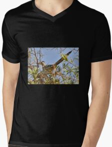 Roadrunner In The Desert Willow Tree Mens V-Neck T-Shirt