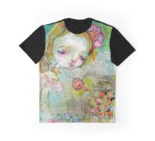 Flower Watering Fairy Graphic T-Shirt